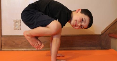 When your mom's a yoga teacher...